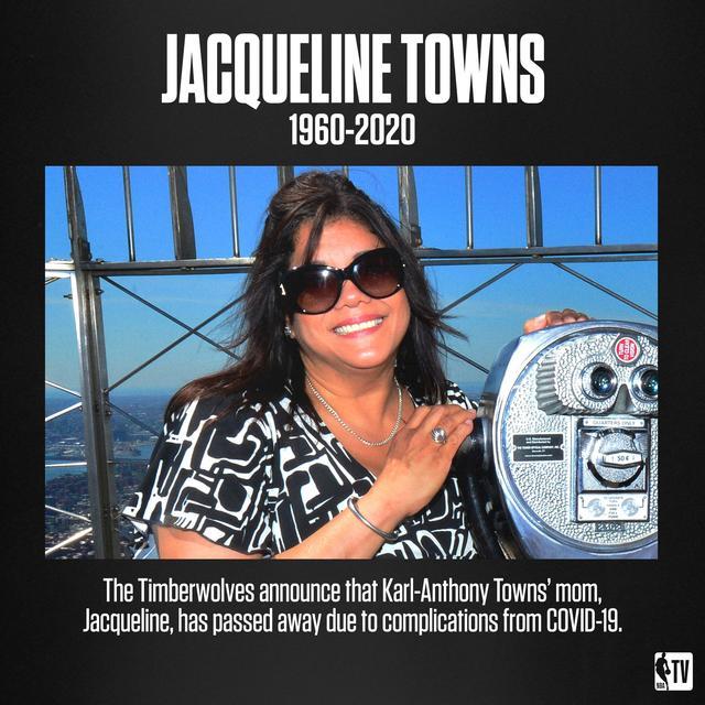 唐斯的母亲杰奎琳由于新冠肺炎并发症去世