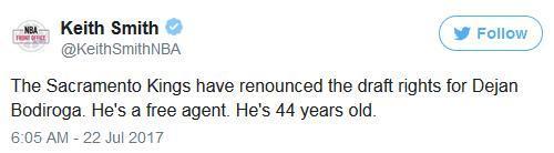 笑出眼泪!国王宣布放弃44岁新秀所有权