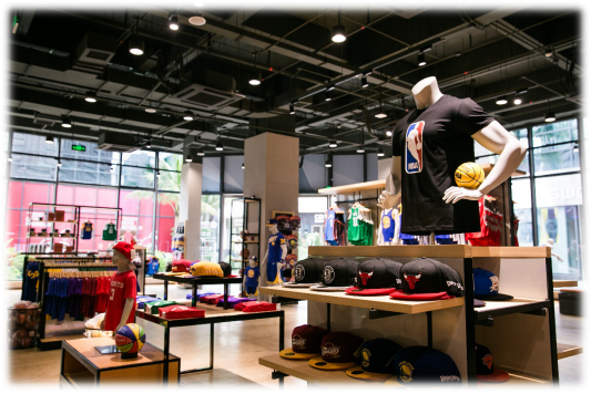 NBA互动体验馆和零售店
