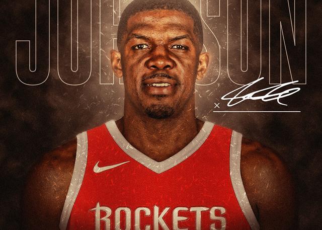 官宣:火箭签下乔-约翰逊 他将穿7号球衣