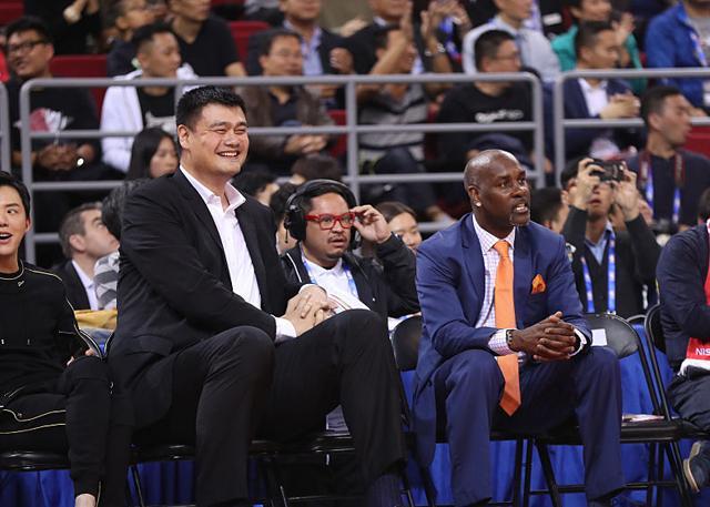 中国赛众星云集 佩顿父子齐上阵姚明穆大叔现身
