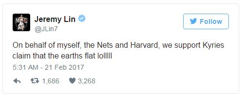 书豪声援欧文地平论:代表篮网和哈佛支持他