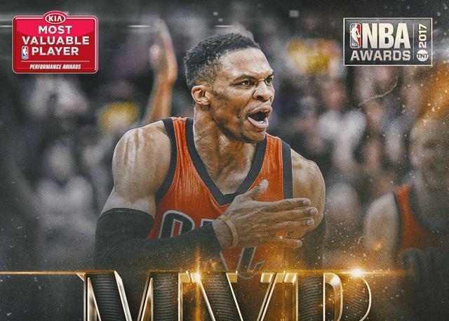 威斯布鲁克当选16-17赛季常规赛MVP_NBA中国官方网站