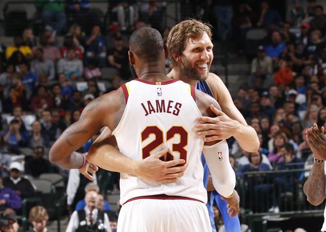 詹姆斯致意诺天王:他是我最爱的球员之一