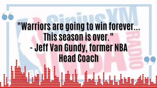 范甘迪:勇士将永远赢下去 新赛季已经结束