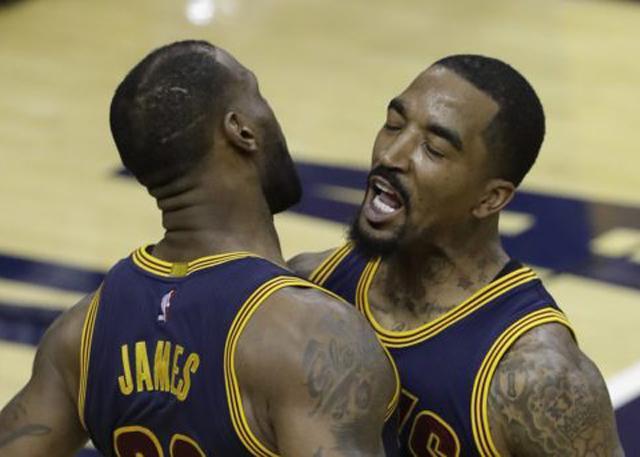 JR-史密斯发图告别詹姆斯:谢谢你,兄弟