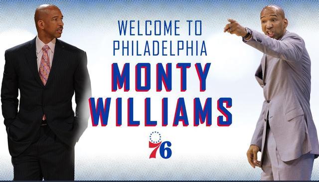 官宣:76人正式聘请蒙蒂-威廉姆斯担任助教