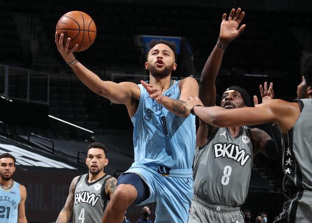 NBA常规赛再战一场,灰熊115-111加时险胜篮网
