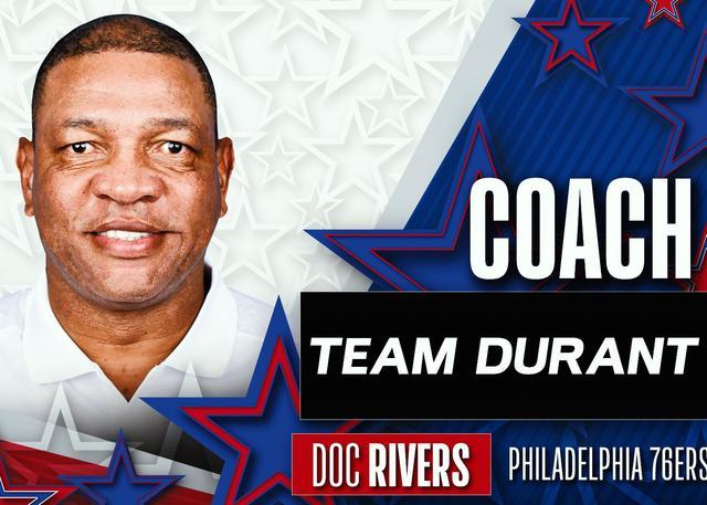 官宣:里弗斯出任全明星杜兰特队的主教练
