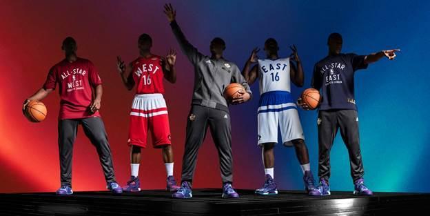 阿迪达斯和NBA共同发布2016 NBA全明星球衣