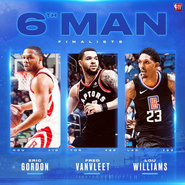 NBA官方公布各大年度奖项的候选名单
