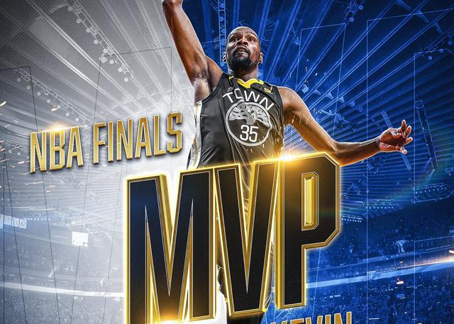凯文-杜兰特当选2017-18赛季总决赛MVP