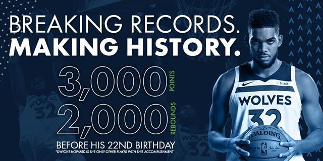 14日数据酷:唐斯22岁前3000+2000历史唯二