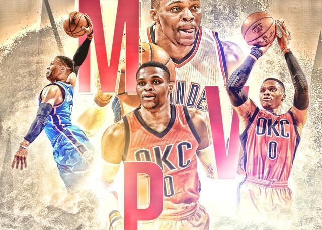 历届NBA常规赛MVP:威少首度 詹姆斯四度当选