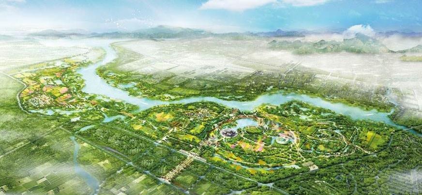 北京世园会园区建设基本成形