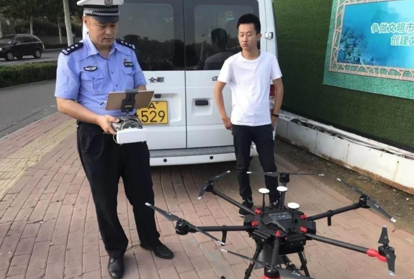 济南启用无人机抓拍开车玩手机