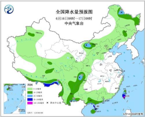 云南海南将有较强降雨 东北地区强对流天气频繁