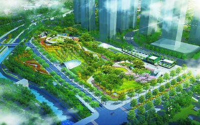 """新机场线""""留白增绿"""" 地铁站上首建5万平方米公园"""
