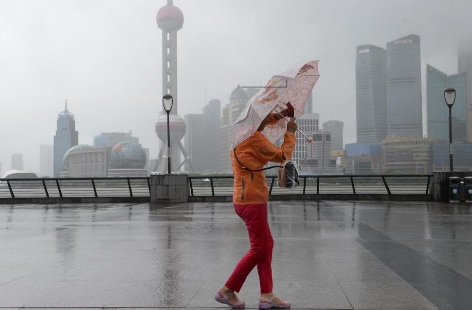 """台风""""安比""""预计今天13时至15时左右登陆上海"""