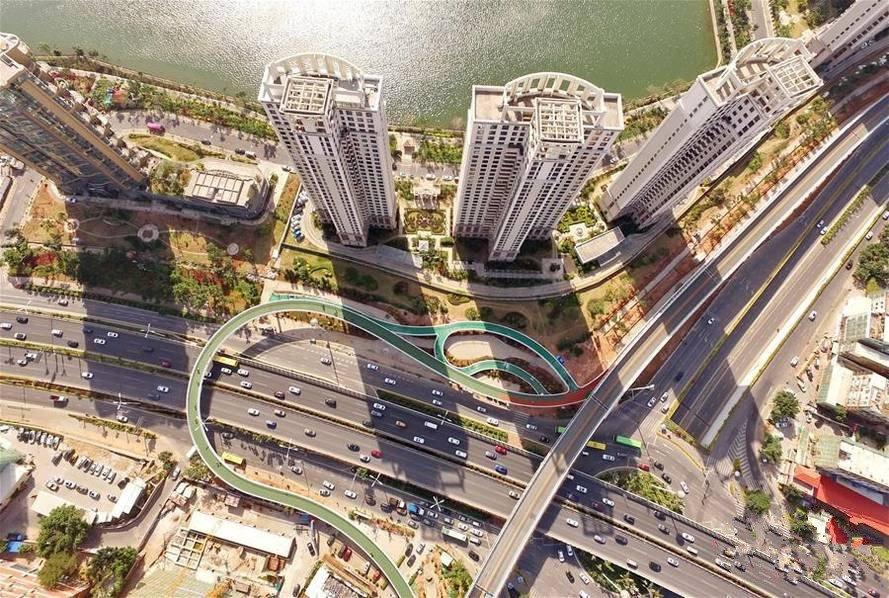 中国首条空中自行车道