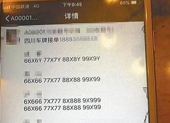 """黑客侵入上牌系统盗取1500万副号牌 公然叫卖""""靓号"""""""