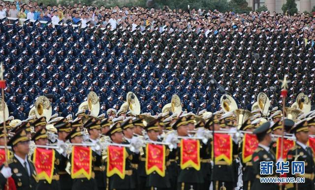 (时政)(4)纪念中国人民抗日战争暨世界反法西斯战争胜利70周年大会专项演练顺利举行