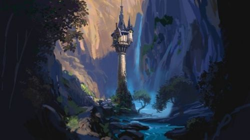 将于2010年12月25日以3D立体电影形式上映的迪士尼电脑动画片《长发公主》(Rapunzel)日前又曝光了4张概念设计图