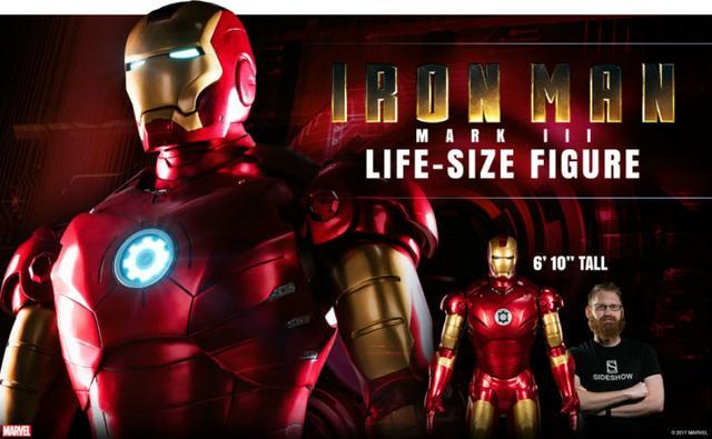 漫威推出钢铁侠1:1两米模型 身穿Mark3战甲帅炸天