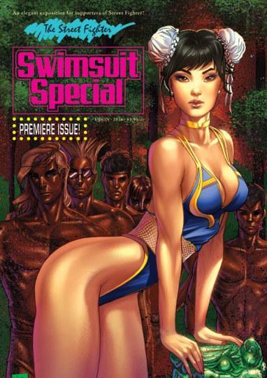 《街霸5》泳装版漫画曝光 春丽比基尼辣眼睛