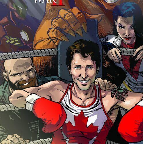 加总理化身拳击手登漫画封面 将成第三个漫威领袖