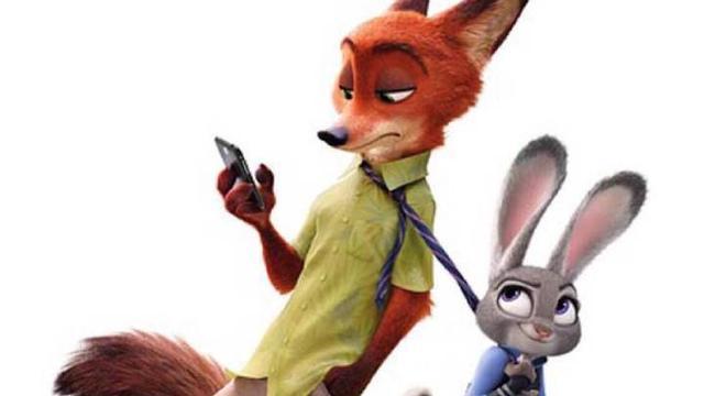 电影下线之后,许多情侣纷纷用兔朱迪和狐尼克的形象来做头像来虐狗.图片