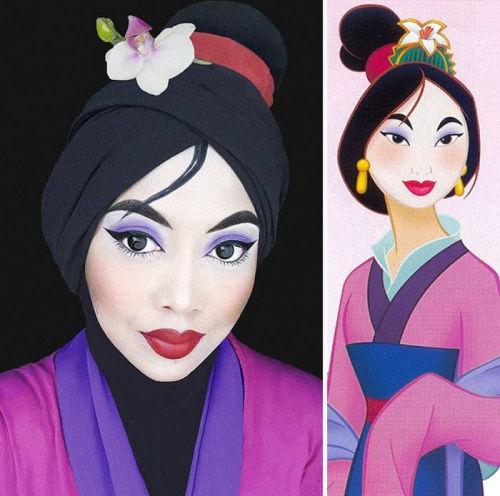 女子仅用头巾COS迪士尼人物