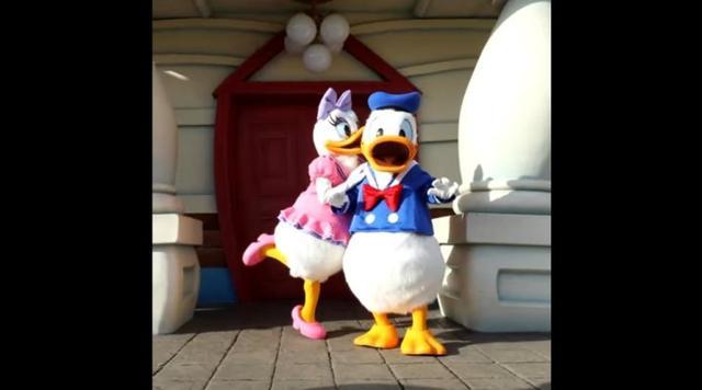 白白的鸭屁股成焦点 迪士尼为唐老鸭制作庆生视频图片