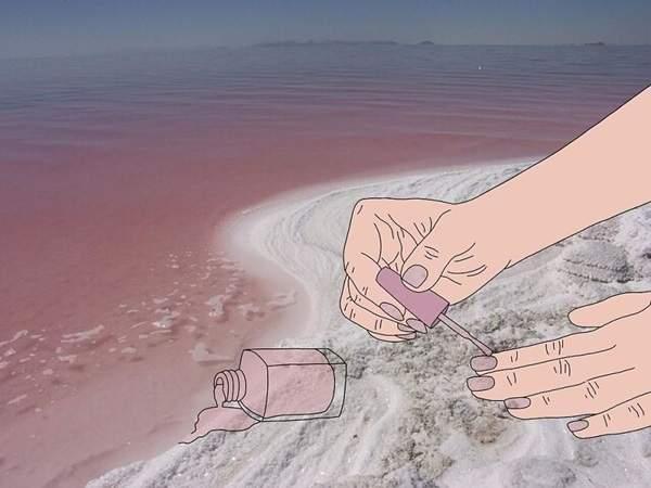 以海为被!超悠闲插画放松你的神经
