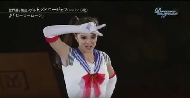 超萌!俄花滑选手COS美少女战士视频流出