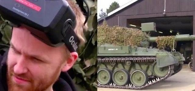 城会玩!德国极客用VR眼镜将坦克开上街