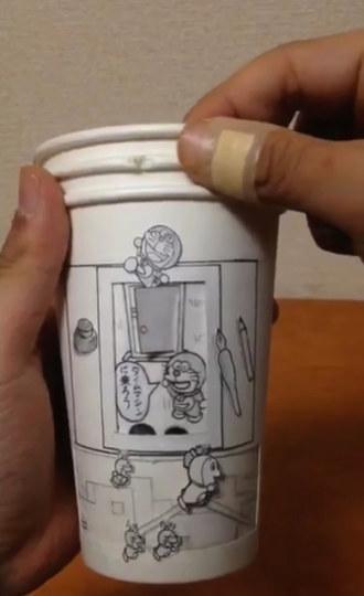 手工制作大全图片纸杯机器猫