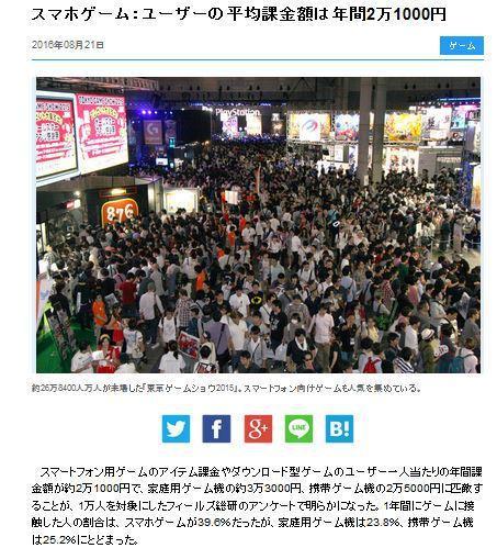 人均过万!日媒调查游戏玩家氪金数额