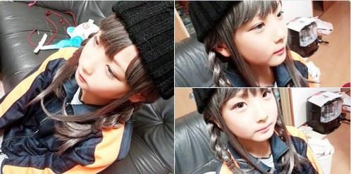 日本网友将自己的小学生弟弟打扮成伪娘