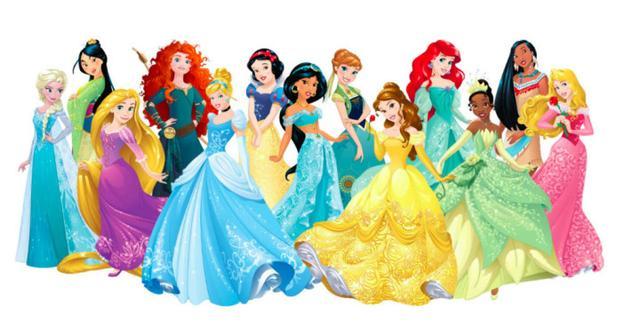 白雪公主,《冰雪奇缘》中的艾莎公主与安娜公主,《小美人鱼》中的爱丽