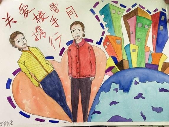 大学生绘制肖像漫画送给全院宿管员