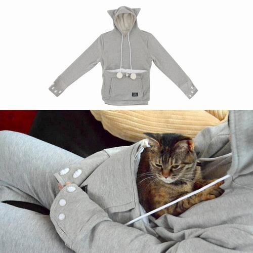 猫窝卫衣发售 把你家的爱猫兜在肚子上吧