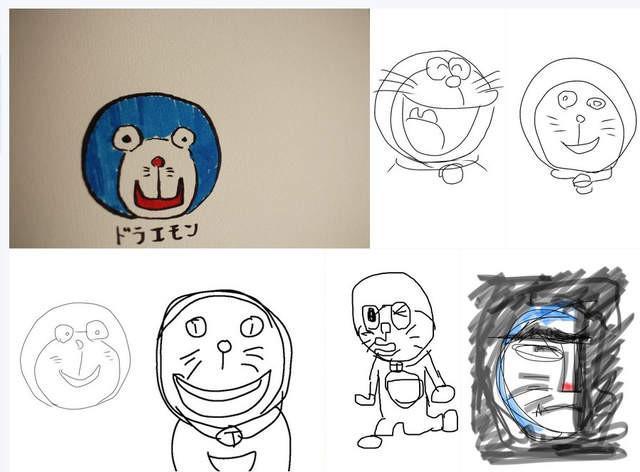 就算有哆啦A梦教程 有人还是画成了谜样生物