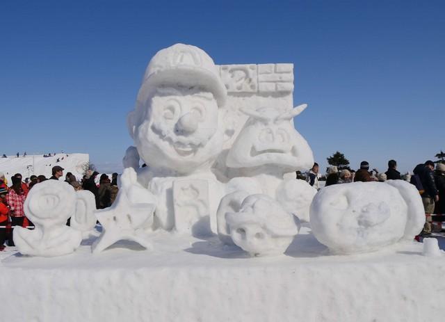 日本札幌冰雪节《ff7》《llss》等大量动漫雪雕引人注目图片