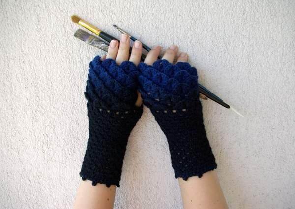 有了龙鳞针织手套 妈妈再也不担心我冷了