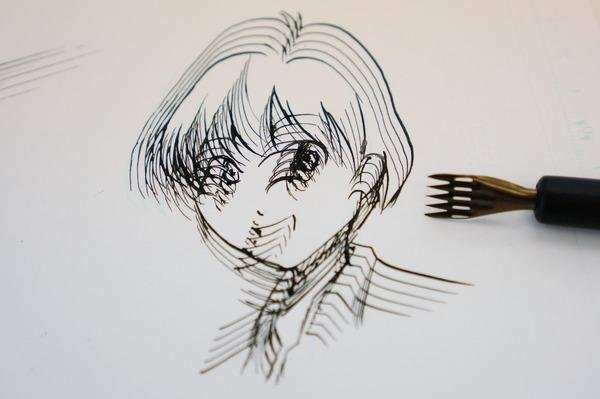 漫画家晒能以5倍效率作画的画笔