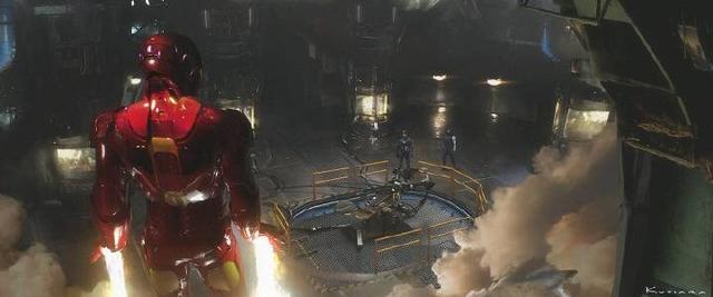 概念图主要包括美国队长和钢铁侠的打斗(爱恨交织)图,帅气黑豹阻止