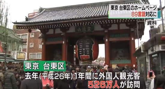 日本旅游景点主页89种语言翻译引吐槽