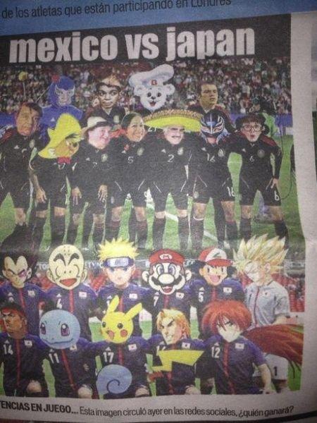 墨西哥用动漫介绍奥运会日本男足