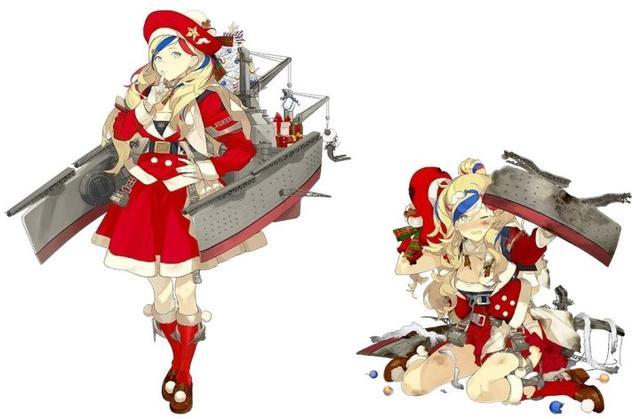 可爱得想犯罪!《舰队收藏》公布圣诞立绘及曙新立绘